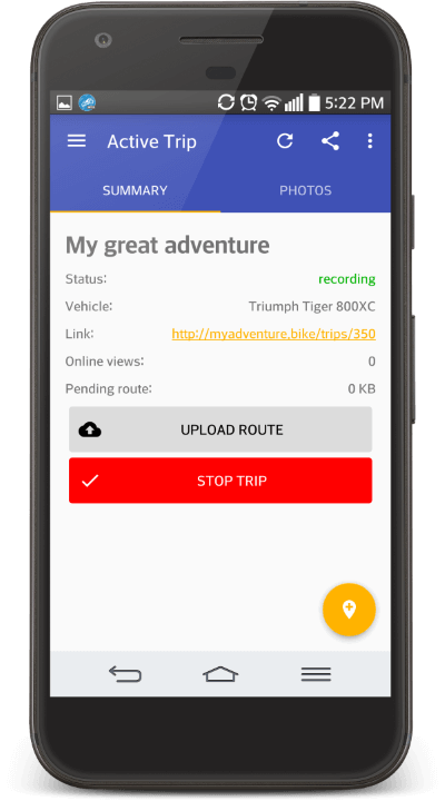 MyAdventure Android App